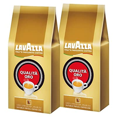 Lavazza Qualita Oro Coffee Beans, 1000g (Pack of 2, Total 2000g)
