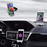 Cell Phones Accessories Best Deals - Best Car Phone Holder, Golden Colours Super 3 in 1 Universal Cell Phone Car Cradle & Mount Fits iPhone & Other Popular Brands - 3 Mounting Options - 360 Degree Rotation - A Perfect Gift for a Great Price.