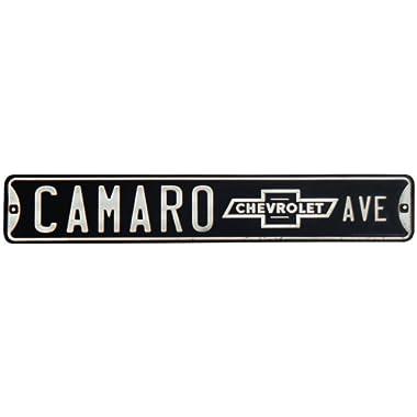 Open Road Brands Camaro Avenue Tin Street Sign