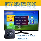 Renew Code for Brazil TV Box HTV 5 4 3 2 1 IPTV 6 Plus 5 A2 Valid 1 Year with Free 1 Month (Renew Code)