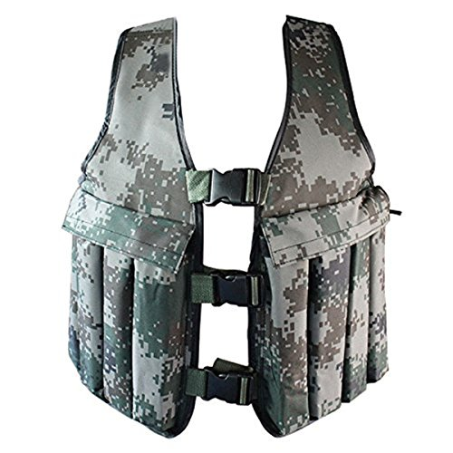 Yosoo 20KG / 44LBS Adjustable Camouflage Weight Weighted Vest Training Workout Fitness Exercise Jacket Unisex by Yosoo