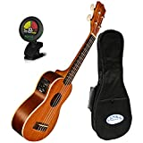 Kala KA-SE Mahogany Series Soprano Acoustic Electric Uke w/ Gig Bag and Tuner