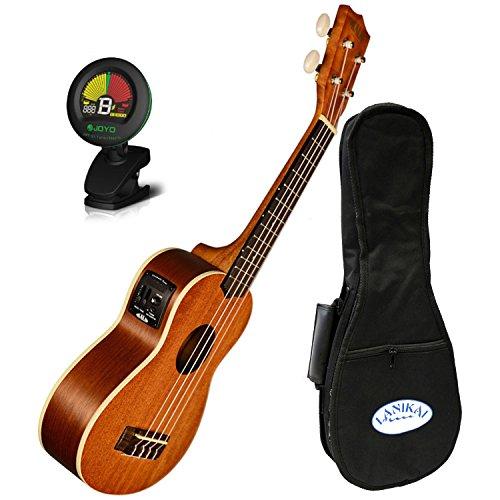 Kala KA-SE Mahogany Series Soprano Acoustic Electric Uke w/ Gig Bag and Tuner by Kala