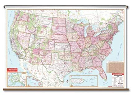Large Map Of United States.Amazon Com Large Scale Wall Map United States Magnetic Usa