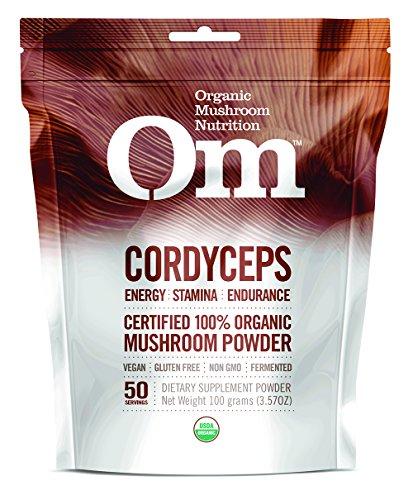 Om Organic Mushroom Supplement, Cordyceps, 100 grams