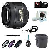 Nikon 35mm f/1.8G AF-S DX Lens for Nikon Digital SLR Cameras + 6PC Bundle Deluxe Accessory Kit