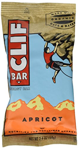 Clif Bar Energy Bar, Apricot, 2.4-Ounce Bars, 12 Count