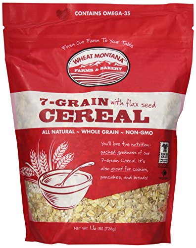 Wheat Montana Cereal, 7 Grain with Flax, 1.6 Pound (Pack of 8) (Wheat Montana Bread)