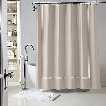 Wamsutta® Baratta Stitch 54 Inch X 78 Inch Stall Shower Curtain In Taupe