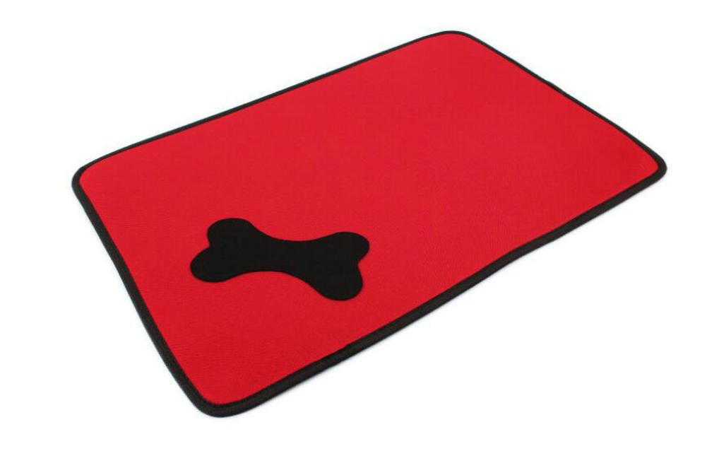 Hosaire Dogs Self-Cooling Pet Pads 23 5/8 x 16 6/8 inches Cool Beds for Dog Crates, Kennels and Beds ,Red,size:S