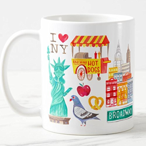 (New York City Coffee Mug NYC Ceramic Cup Microwave and Dishwasher Safe I Love NY Drinkware)