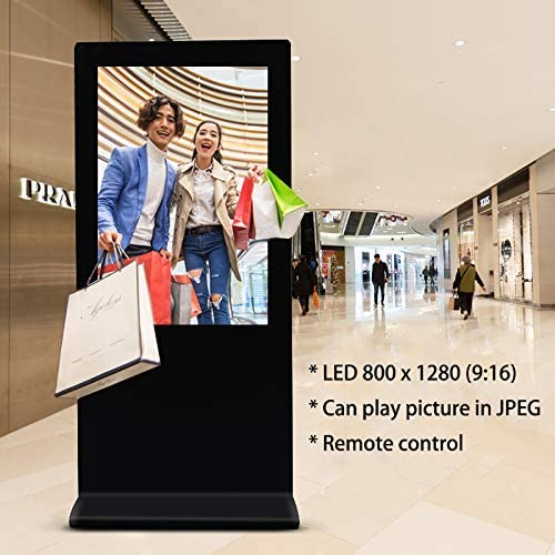 Ewell New 10inch 800x1280 IPS Screen Aspect Ratio 9:16 Digital Photo Frame,10 Unique Picture Frame LCD Advertising Display with USB SD Card Slot