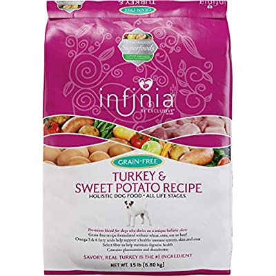 Infinia | Turkey and Sweet Potato Grain-Free Adult Dog Food | Nutritionally Complete - 15 Pound (15 lb) Bag