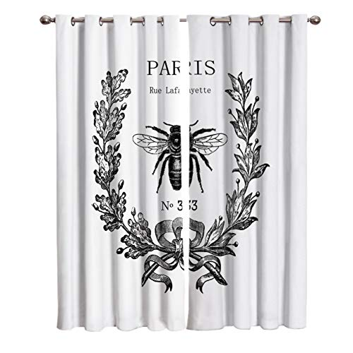 Window Curtains Set of 2,Rue Lafayette bee No 33 (52
