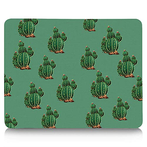 Tropical Cactus Mouse Pad Standard Size Rectangle Non-Slip Rubber Mousepad for Office and Home 11x10 inches Cactus Flowers Blossom Mexican Desert Sand - Sand Mexican 10