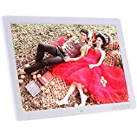Andoer 17 LED Digital Photo Picture Frame High Resolution 1440x900 Scroll Caption 1080P Advertising Machine MP3 MP4 with Remote Control Christmas Gift Present