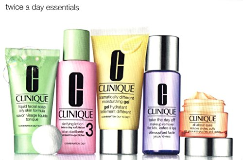Clinique Twice a Daily Essentials 5 Pcs Kit for Combination Oily to Oily Skin