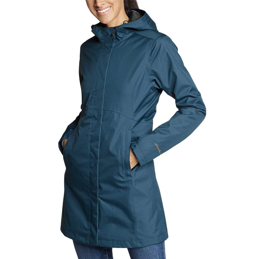 Eddie Bauer Women's Mackenzie Trench Coat, Peacock Regular M by Eddie Bauer