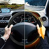 Heated Steering Wheel Cover, Universal 12V Output Voltage Quick Heating Black, Velour Soft Non Slip Keep Warm Wheel Protector Steering Accessories