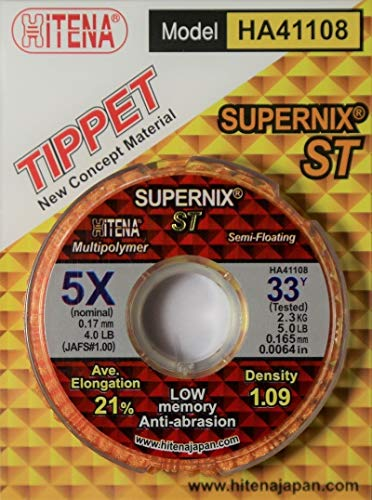 (Hitena Supernix - Multi-Material Floating Fly Tippet for Dry Flies (33yd). Innovation in Dry Flies - Floating Tippet)