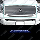 APS Compatible with 2006-2008 Dodge Ram Pickup Lower Bumper Billet Grille Insert N19-A33756D