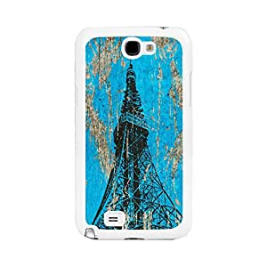 Wooden Grain Hard Phone Cover with Tower for Samsung Galaxy Note2 N7100