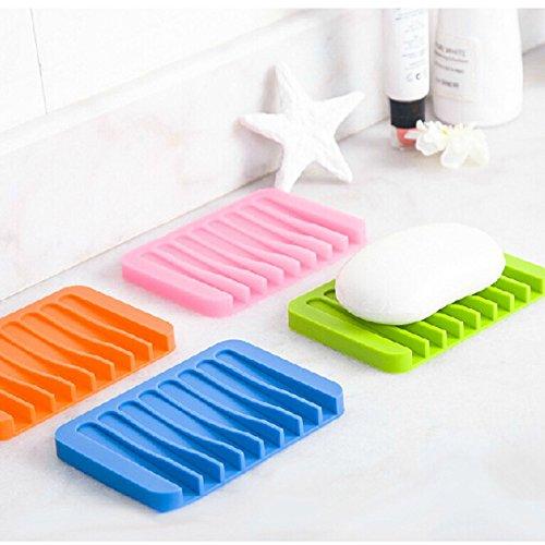 VT BigHome Creative Silicone Soap Dish Bath Storage Sink Holder Hanging Bag Sponge Drain for Bathroom Silicone draining soap Holder
