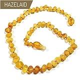 Hazelaid (TM) 14'' Pop-Clasp Baltic Amber Lemondrop Necklace