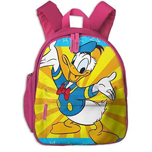 48 Donald Duck - Donald Duck (2) Print School Backpacks For Girls Boys Kids Elementary School Bags Bookbag Outdoor Daypack