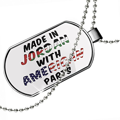 Dogtag American Parts but Made in Jordan Dog tags necklace - Neonblond by NEONBLOND