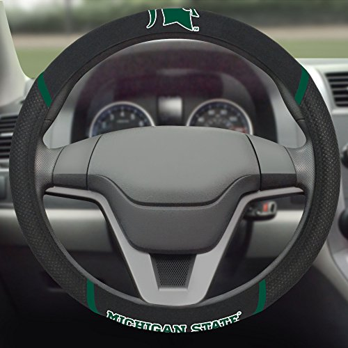 (FANMATS  14864  NCAA Michigan State University Spartans Polyester Steering Wheel)
