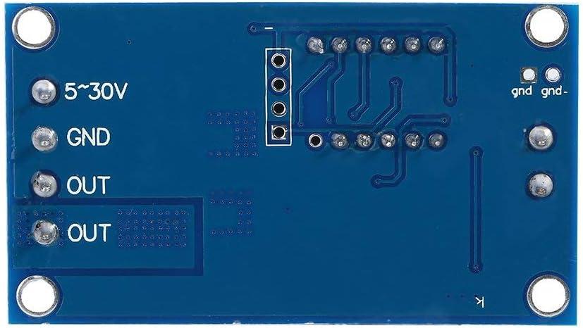 ICQUANZX Module de relais marche//arr/êt avec affichage LED 5 V-36 V Module de minuterie Interrupteur de retardateur de cycle de d/éclenchement Module de minuterie CC