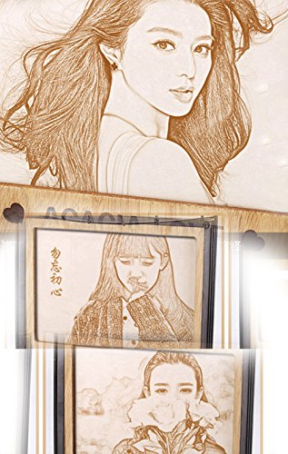 photo Frame Carved on the board Wedding birthday present Customize Christmas gift (Bracket 6) by JEYKAY (Image #5)