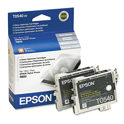 Epson T054, 400 Page Yield Gloss Optimizer Ink Cartridges, Clear