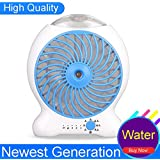 LK&smart Portable Handheld USB Mini Misting Fan With Personal Cooling Humidifier, Water Spray Fan & Rechargeable Battery