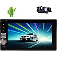Pupug 6.2Pure Autoradio 4.2 System Car StereoDouble din Car Stereo Touchscreen DVD Player GPS/BT/SD/USB/FM/AM Wifi Internet Video Radio Stereo Bluetooth In-dash Navigation Car Audio +Back camera
