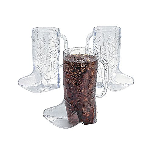 Clear Plastic Cowboy Boot Mugs (1 dz) for $<!--$21.67-->
