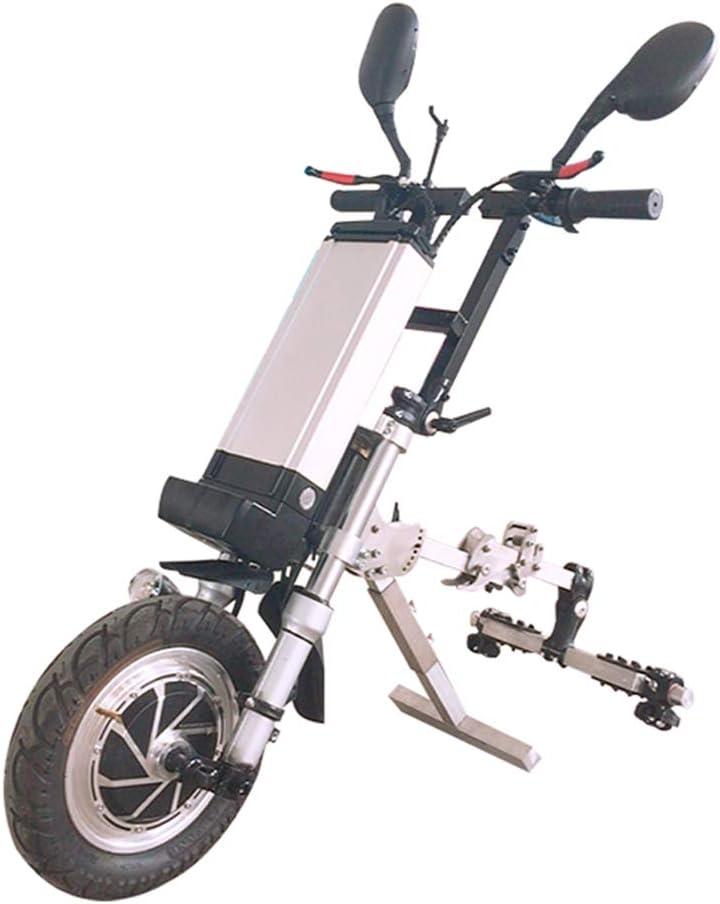 DGFTC-2 48V 450W Silla De Ruedas Eléctrica Accesorio para Silla De Ruedas Bicicleta De Mano Kit De Conversión De Bricolaje con Batería De Iones De Litio De 12 AH