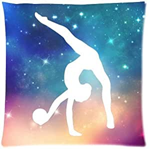 Funny Gymnastic Galaxy Throw Pillow Case Sofa Bed Home Decor Cushion Cover 18X18 inch (one side) Zippered