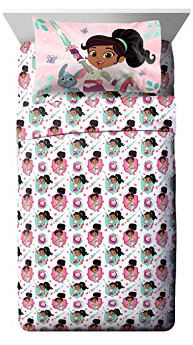 Jay Franco Nella Sparkle Knight Sheet Set Twin Pink -