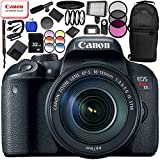 Canon EOS Rebel T7i DSLR Camera with 18-135mm Lens 20PC Accessory Bundle – Includes 32GB SD Memory Card + High Speed Card Reader + MORE