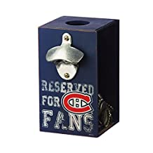 Team Sports America Montreal Canadiens Wooden Bottle Opener Cap Caddy