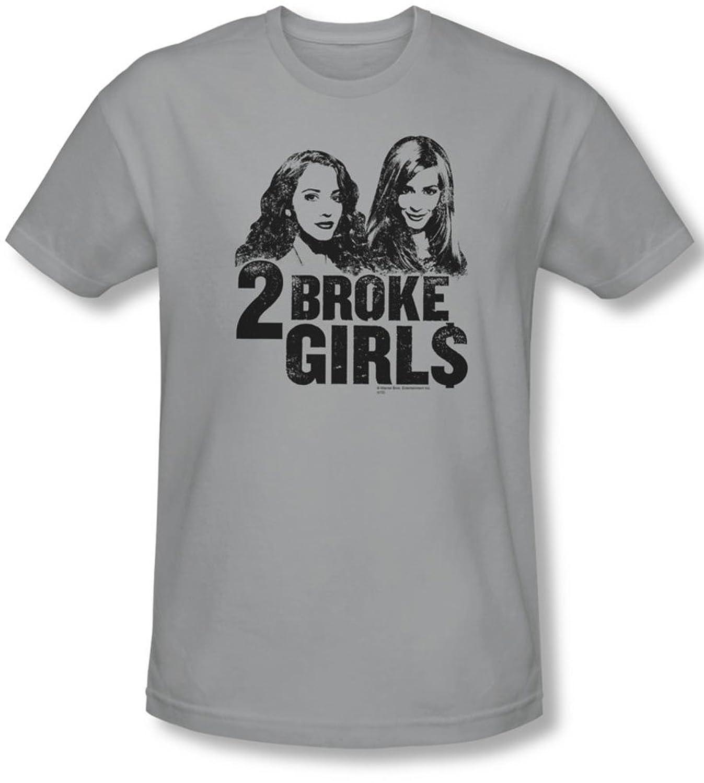 2 Broke Girls - Mens Broke Girls T-Shirt In Silver
