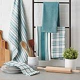 """DII Kitchen Dish Towels (Teal, 18x28""""), Ultra"""