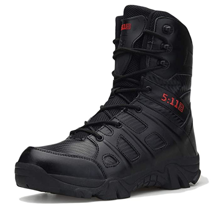 FCBDXN Hombres Zapatos De Tacón Alto Botas De Alpinismo Al Aire Libre Ejército Militar Botas De
