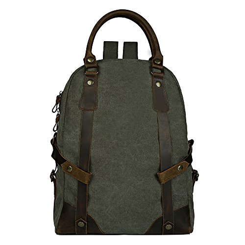 Unisexs Travel Hiking Backpack Waterproof Material (Army green) - 5
