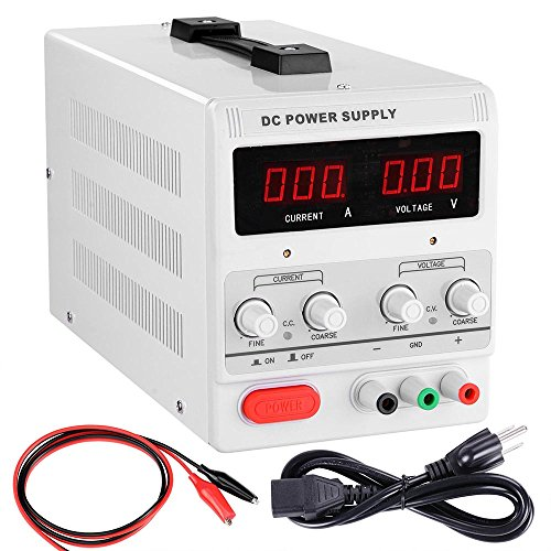 yescom-110v-input-30v-5a-output-precision-variable-digital-dc-power-supply-with-alligator-test-lead-