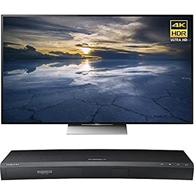Sony 55-Inch Class 4K HDR Ultra HD TV (XBR-55X930D) with Samsung 3D Wi-Fi 4K Ultra HD Blu-ray Disc Player
