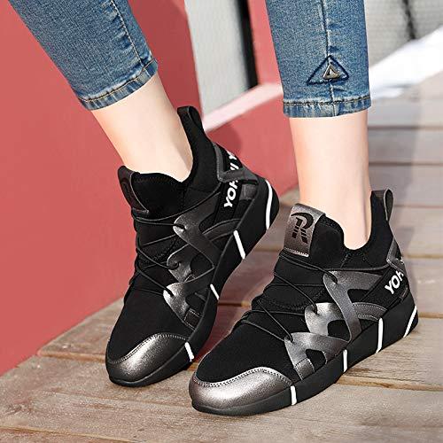 es la Red Women Rojos Zapatos Senderismo 's Estilo Zapatos Gun Nuevo Mayor Sports Shoes Transpirable En color otoño AJUNR el CYfAwcq