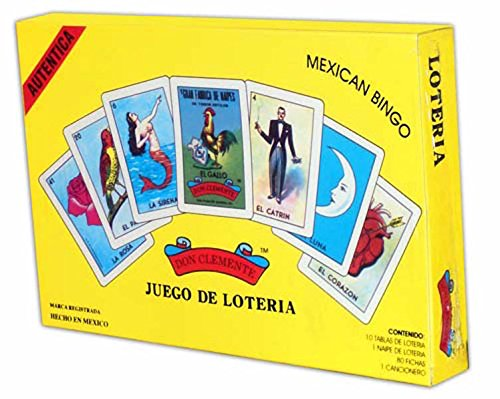 Don Clemente Authentic Loteria Card Game Gift Box Set (Loteria Mexican Bingo)